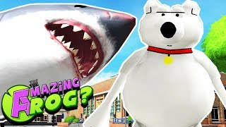 DOGGO BRINGS MEGALODON TO SWINDON & VISITS NARNIA!! || Amazing Frog Gameplay/Funny Moments Part 30