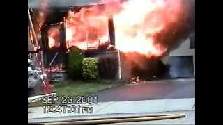 Hasbrouck Heights NJ Fire Dept Sept 23rd 2001 128 Jefferson Ave video by Erik Velez