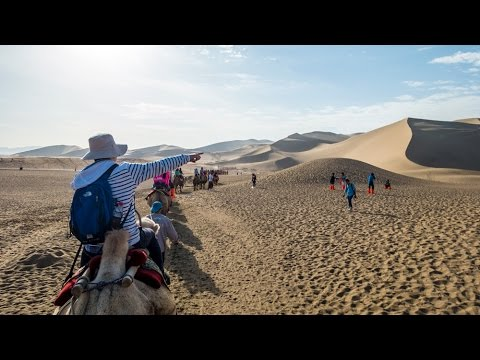 Riding Camels in the Gobi Desert - Echoing-Sand Mountain China Edwin's Eyes