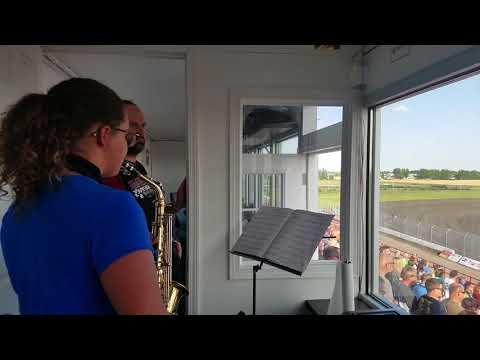 Elise national anthem at red river valley speedway