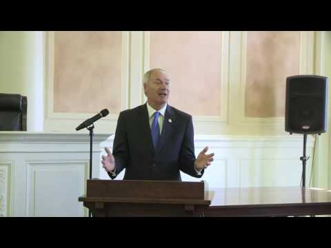 2017 Arkansas Teacher of the Year Event:  Arkansas Gov. Asa Hutchinson