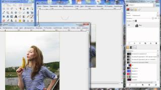 Как соединить фотографии в программе GIMP.mp4(Простые и не очень, операции в GIMP., 2010-08-24T22:56:34.000Z)