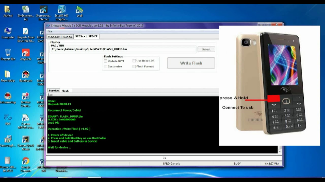 Haw to Itel it5231 Flashing By Cm2 Dongle SPD
