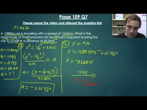 Forces & Newtons Laws of Motion: Video 2 - Part 1 (Worked Example)