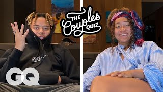 Cordae & Naomi Osaka Ask Each Other 30 Questions | The Couples Quiz | GQ
