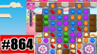 Candy Crush Saga  Level 864 | Complete! No Booster!