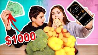 تحديت اخوي بالأكل عشان $1000 دولار !!😱 ( انخنقنا)