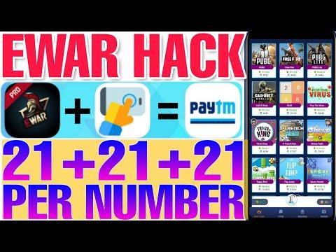 EWar Apk All Game Hack Trick, Per Number 21+21 Rupees Unlimited Bypass Trick #eWar