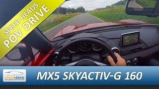 POV Drive - Mazda MX-5 Roadster 2.0 ND (160 PS) Onboard Test Drive (pure driving, no...