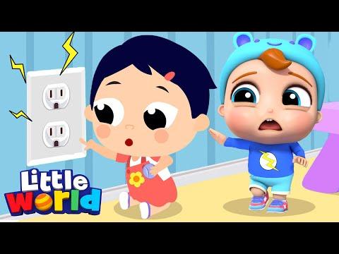 Beware Of The Dangers At Daycare | Little Angel Kids Songs & Nursery Rhymes