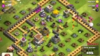 Hechizo de rabia y robo de 200 k! Clash Of Clans!!