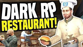 I OPENED A RESTAURANT - Gmod DarkRP | Being Tipped £100,000!