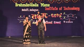 BMIT Solapur : Tarang 2014 : Shradha Jadhav & Vishwas Shinde Anchoring