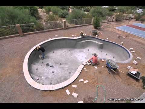 Installing Travertine Pool Coping Youtube
