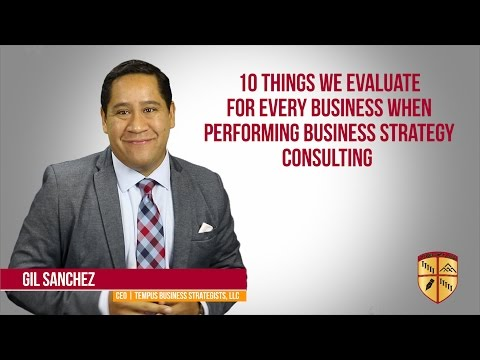 10 Things We Evaluate For Every Business When Performing Business Strategy Consulting.