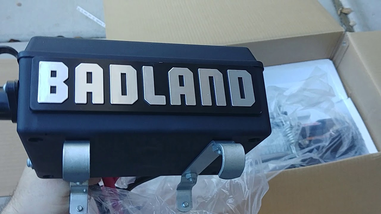 Badlands zxr 1200lb winch unboxing