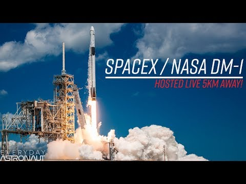 Watch SpaceX launch their first Crew Dragon Capsule from just 5km away!  (LIVE at KSC)