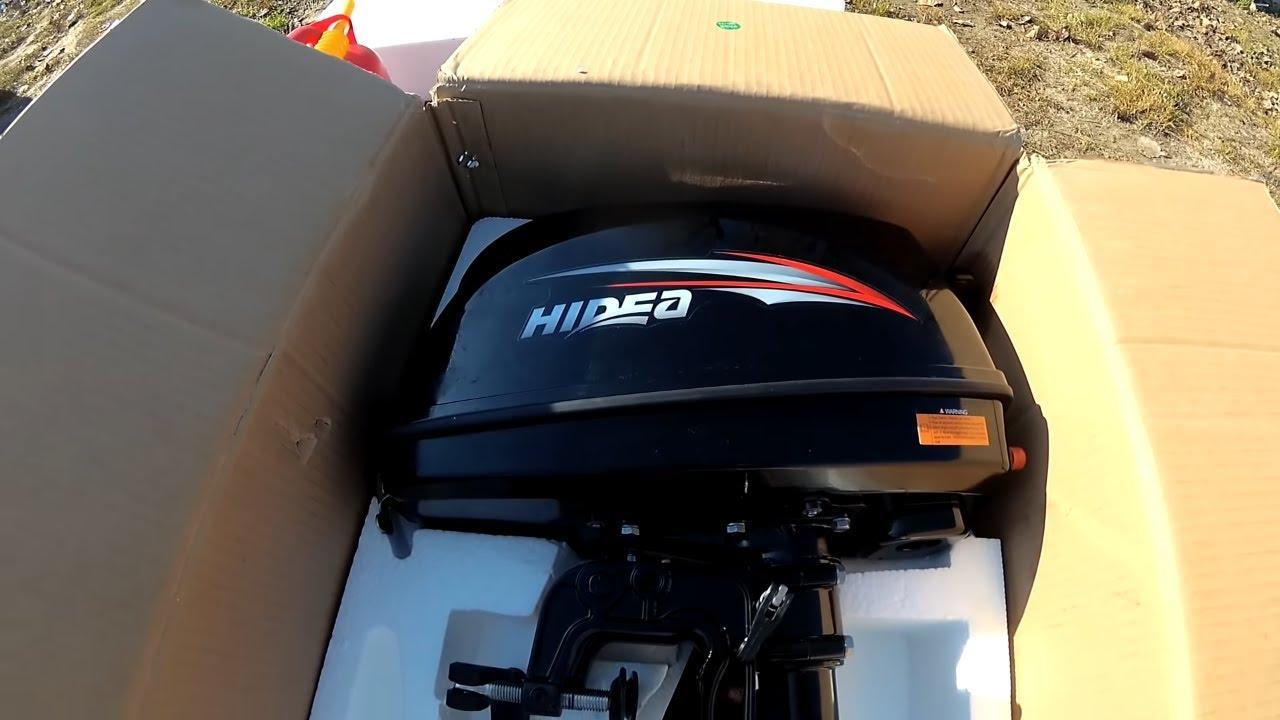 Лодочный мотор Hidea, покупка и обкатка лодочного мотора