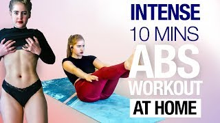 Intense Abs Routine - 10 Mins Exercise At Home
