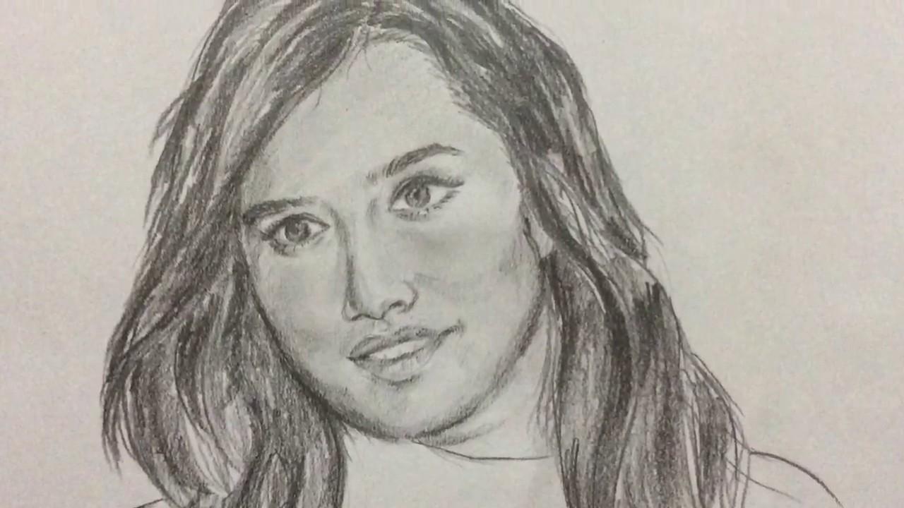 Shraddha Kapoor   Sketch   Timelapse - YouTube
