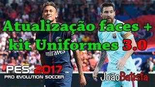 Atualização pes 2017 3.0 transferência de jogadores mais uniformes 24/08/2017