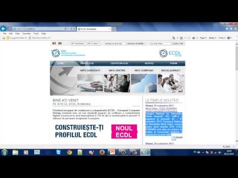 Tutorial Instrumente Online - 1. Internet Explorer - Navigare