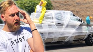 We Bubble Wrapped Tanners Car!