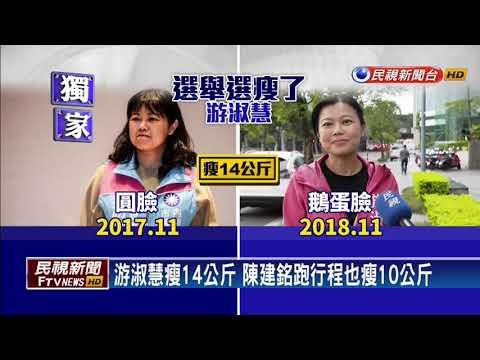 2018九合一-選舉好操!游淑慧瘦14公斤 陳建銘瘦10公斤-民視新聞