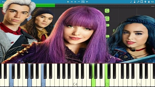 disneys descendants 2   ways to be wicked   piano tutorial