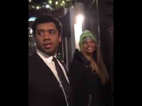 Singer Ciara and husband Russell Wilson