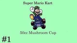 Super Mario Kart - Episode 1 - 50cc Mushroom Cup