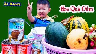 Giant Fruit Beams -Bé làm cốc Hoa quả dầm Khổng Lồ mời cả trường ăn nhân dịp mồng 1 - 6.