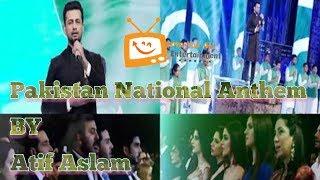 Atif aslam Pakistan national anthem 16th Lux Style Awards