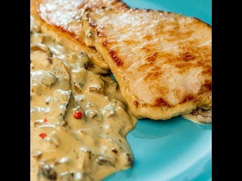 Pork Chops With Mushrooms In Heavy Cream Sauce