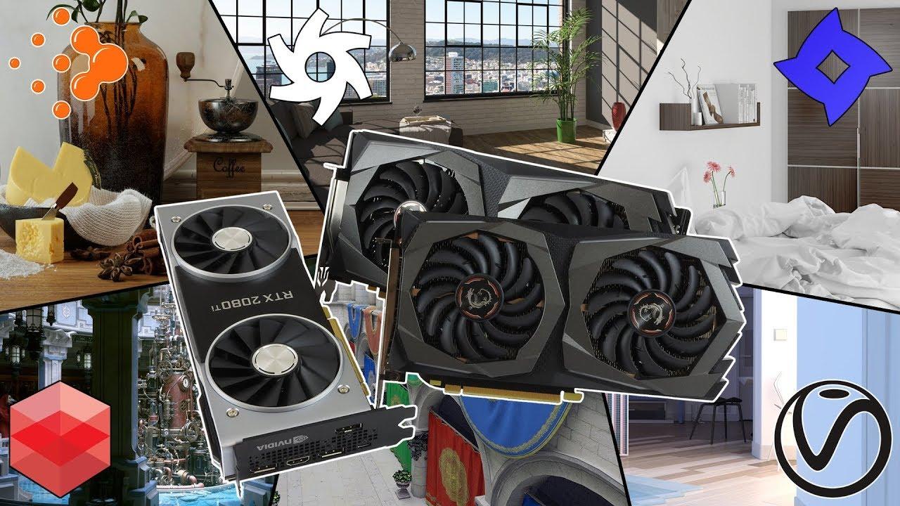 GPU rendering Turing vs Pascal vs Maxwell - RTX 2060-2070-2080(Ti) | GTX  1660 Ti - 980(Ti)-1080(Ti)