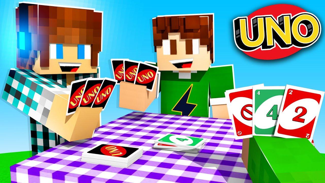 Jogando NOVO UNO no MINECRAFT com AMIGOS !! - Minecraft Uno