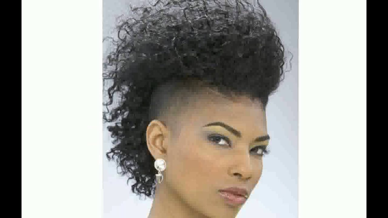 Black Women With Mohawk Hairstyle