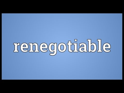 Header of renegotiable
