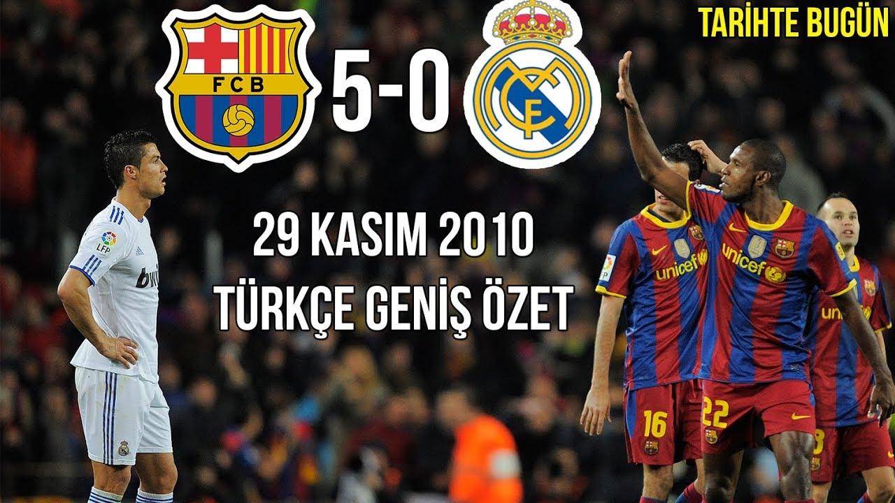 TARİHTE BUGÜN: Barcelona 5-0 Real Madrid   Türkçe Spiker   Geniş Özet 2010 • HD