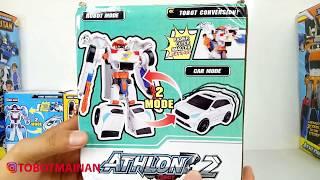 TOBOT TOYS ATHLON 2 ROBOT CARS TRANSFORMERS