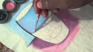 Marcos Rodrigues Pintura em tecido Transparência de vidro 1