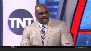 Shaq with some riveting commentary on Damian Lillard's explosive first half