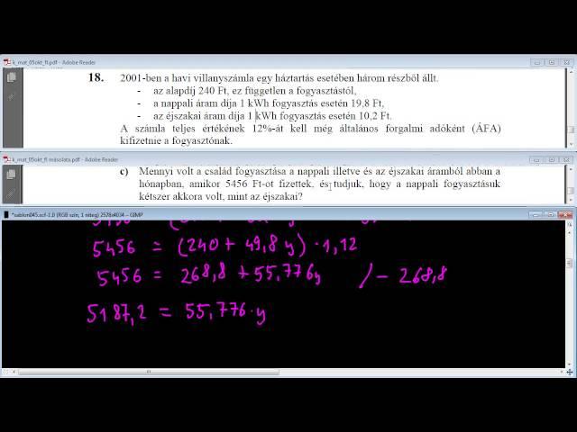 18/c Feladat - Egyenletek