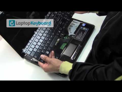 Toshiba Satellite Laptop Keyboard Installation Replacement Guide - A500 L500 - Remove Replacement