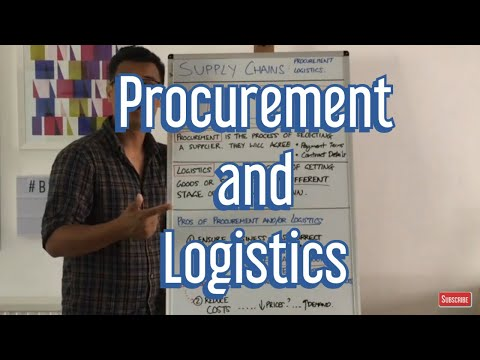 What is Procurement? What is Logistics?