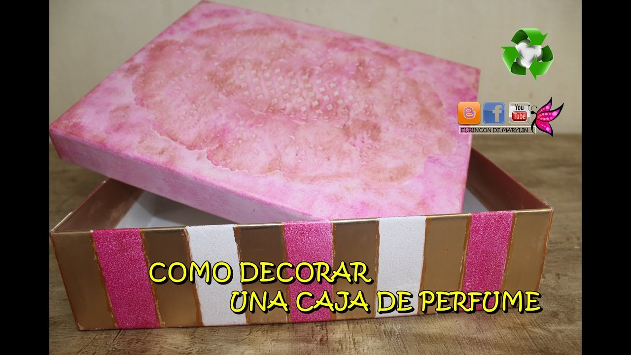 como decorar una caja de carton facil y rapido youtube