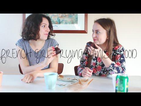 FRENCH GIRL TRYING DANISH FOOD
