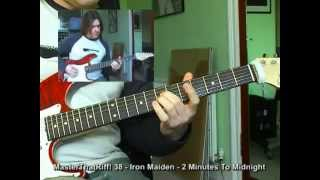 """""""2 Minutes To Midnight"""" by Iron Maiden - Guitar Lesson w/TAB - MasterThatRiff! 38"""