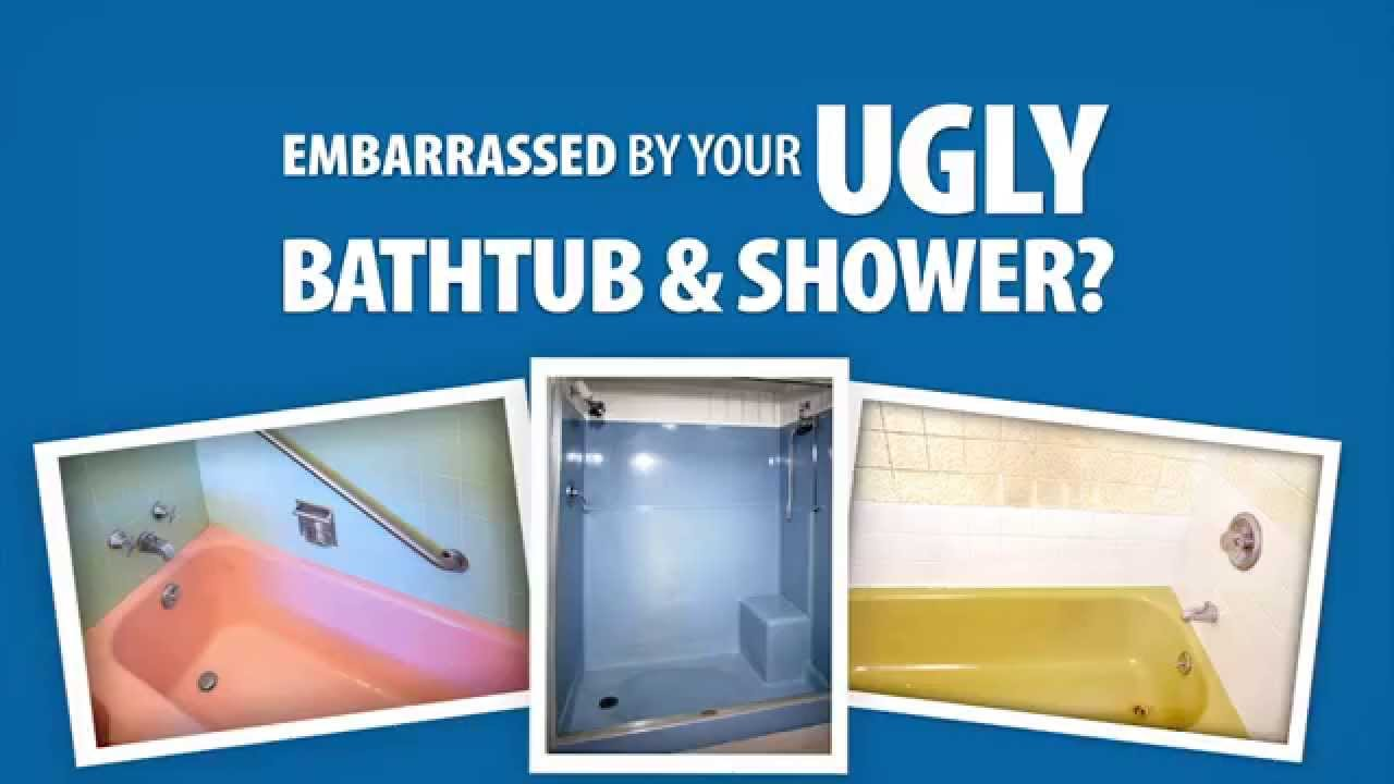 Are you embarrassed by your ugly bathtub and shower? - YouTube