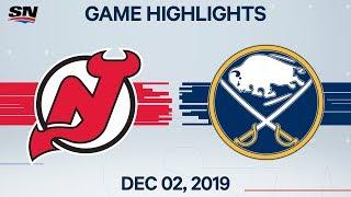 NHL Highlights   Devils vs. Sabres – Dec. 02, 2019